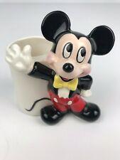 "Vintage Walt Disney Productions Ceramic Mickey Figurine - Made in Japan - 4.25"""