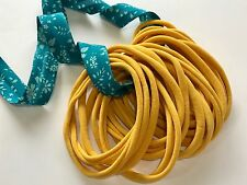 10 Pieces Thin Wholesale Nylon Elastic Stretch Headbands 26cm 6mm wide MUSTARD