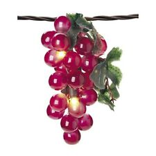 Red Grape Cluster Light String 6 Feet Long with 5 Clusters New