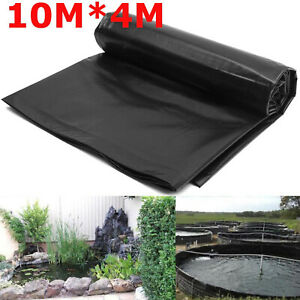 10mX4m Thick Heavy Duty Reinforced HDPE Fish Pond Liner Garden Pools Landscaping