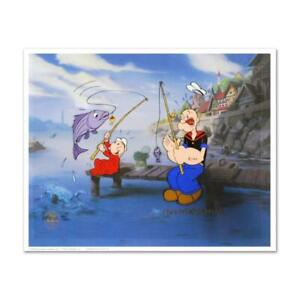 "Myron Waldman ""The Big One"" Limited Edition Hand Painted Animation Cel"
