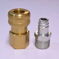 "Foster 6 Series Brass Quick Coupler 3/4"" Body 1"" NPT Air Hose and Water Fittings"