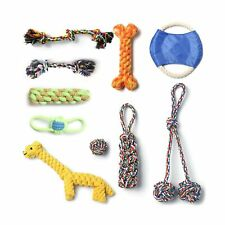 New listing Dog Rope Toys for Puppies Teething,Dog Chew Toys for Aggressive-set of 10 Nea.