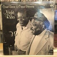 [JAZZ]~NM LP~COUNT BASIE~OSCAR PETERSON~Night Rider~{Original 1980~PABLO~Issue]