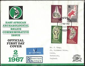 KUT, 1967, EAST AFRICAN ARCHAEOLOGICAL RELICS, ILLUSTRATED FIRST DAY COVER.