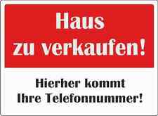 """A3 großes wetterfestes Schild: """"Haus zu verkaufen"""""""