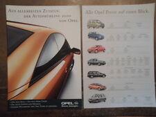 OPEL gamma ORIG 2000 Swiss Mkt opuscolo in tedesco + prezzi-Corsa Tigra Omega
