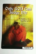 ONLY GOD CAN JUDGE ME COVER ART MINI POSTER BACKER CARD (NOT a movie )