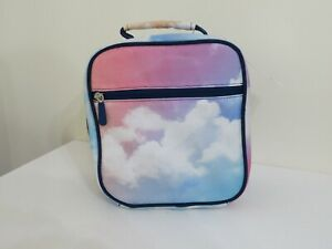 POTTERY BARN KIDS MACKENZIE CLASSIC LUNCH BAG RAINBOW CLOUD NEW