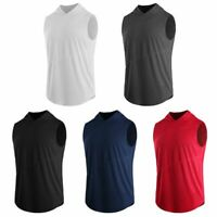Fashion Men Hoodie Sleeveless Sweatshirt Tank Tops Sport Hooded Vest Fitness Tee