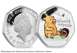 UK 2020 3-Coin Winnie the Pooh Silver Proof 50p Collection