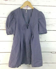 Free People Tunic Top Size XS Dusty Lilac Plum V-Neck Cotton Rayon Pockets