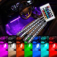 4x RGB LED Innenraumbeleuchtung Fußraumbeleuchtung Auto Innenbeleuchtung Licht