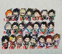 Anime Haikyuu! Rubber keychain Key Ring Race Straps cosplay