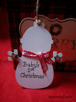 Snowman Personalised HandmadeBaby ornament-1st xmas