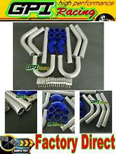 "UNIVERSAL TURBO BOOST INTERCOOLER PIPE KIT 3"" 76mm 8 PCS Aluminum PIPING BLU"