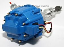 Ford 351W HEI Ignition Distributor Blue Cap 50K Volt Coil SBF Windsor Conversion