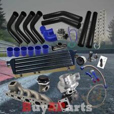 Black Intercooler Piping Blue Couplers Turbo Kit for BMW E36, E46 2.5, 2.8, 3.0L