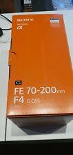 Sony SEL 70-200mm f4, obiettivo G Master FE rivenditori completo TOP