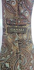 "Canali 100% Silk Made in Italy Paisley Multi-Color Designer Men's Neck Tie 59"" L"