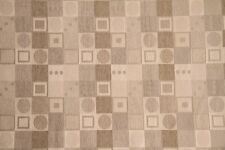 """60"""" Oatmeal Geometric Chenille Upholstery Fabric - By the Yard"""