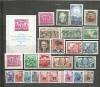 DDR  1954   postfrisch  mit Block + Blockmarke  Dauerserie geprüft  komplett