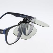 Clip On type Passive Circular 3D Glasses Clip for LG 3D TV Cinema Film Fabulous