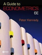 A Guide to Econometrics by Peter Kennedy (2008, Hardcover, Revised)