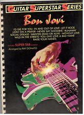 "Bon Jovi ""Guitar Superstar Series"" Super Tab Music Book-Brand New On Sale-Rare!"
