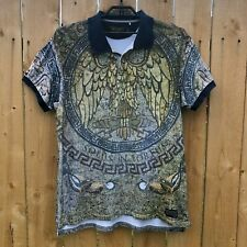 AKOO & Co Men's 4XL Pique Polo Short Sleeve Shirt Mosaic Eagle Print