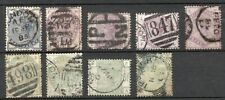 GB QV 1/2d to 1/- lilac & green group used