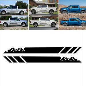 Mountains Truck Side Skirt Door Car Decal Sticker Stripes Vinyl Graphic Decor