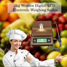 Pantalla Lcd Digital De Madera Cocina Electrónica alimentos Cocina Balanzas 2kg