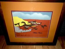 Warner Brothers Chuck Jones Signed Wile E Coyote Cel Hot Pursuit Rare Early Cell