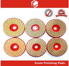 "4""  Professional Wet/Dry Diamond Polishing Pads -7 Pc Set for Granite Marble etc"