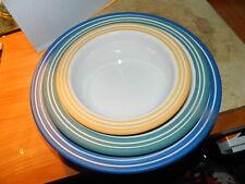 3 Nesting Mason Cash Bowls English Ceramic Yellow Green Blue Serving Mixing