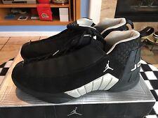 Nike Air Jordan XV Low 136035 011 Black White Metallic Silver 2000 OG size 13