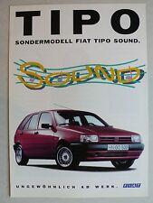 Prospekt Fiat Tipo Sondermodell Sound, 5.1991, 4 Seiten