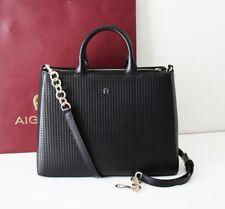 AIGNER Tasche OLIVIA Leather Tote Bag Leder schwarz black