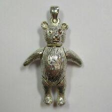 Dekorativer Anhänger beweglicher Teddy Bär aus 925 Silber - 226