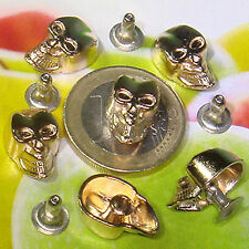 20 Calaveras Remaches Acero 16x10mm  T200A  Bisuteria Abalorios Tacks Rivets