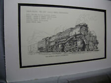 Union Pacific Big Boy 4-8-8-4 Articulated 1976 Exhibit Pen Ink Monster Steam