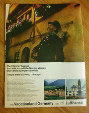 1968 Lufthansa Airlines Germany Ad   The Chimney Sweeps