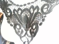 1 pc black Venice Venise neckline applique collar D1