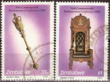 ZIMBABWE 1990 36th COMMONWEALTH PARL CONF Sc612-3 COMPLETE POST USED SET 0911