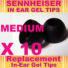 10 Sennheiser CX IE In Ear Buds HeadPhones Headset Earphones Gel Tips Medium