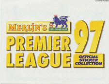 N°Z OFFICIAL STICKER COLLECTION MERLIN PREMIER LEAGUE 1997