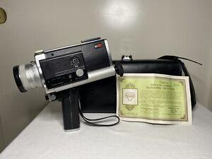 Vintage Minolta Autopak-8 D6 Super 8 Film Camera w/ Case Untested As Is HTF Rare