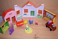 Peppa Pig Playset House, Cafe, Playground Accessories Figures Kids Toys Bundle