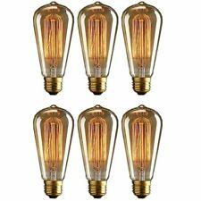 6PZ E27 40W Vintage Retro Antique Style Filament Edison Lampada a globo Lampadin
